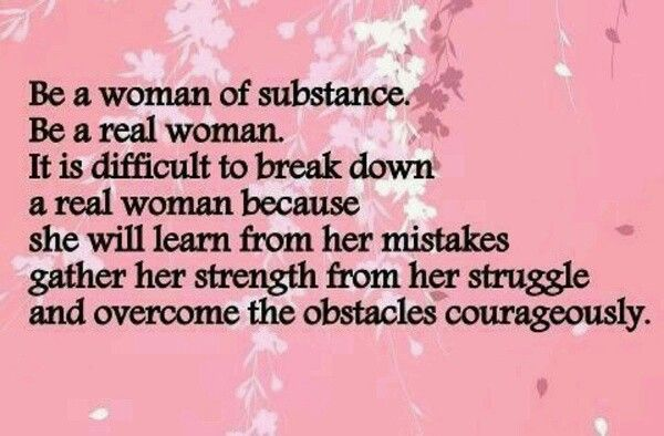 Be A Strong And Wise Woman