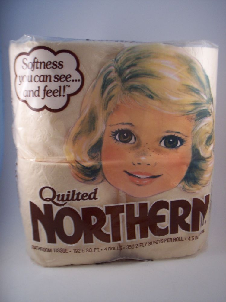 Quilted Northern Peach Toilet Paper Tissue Little Girl 4 Roll Package Vintage