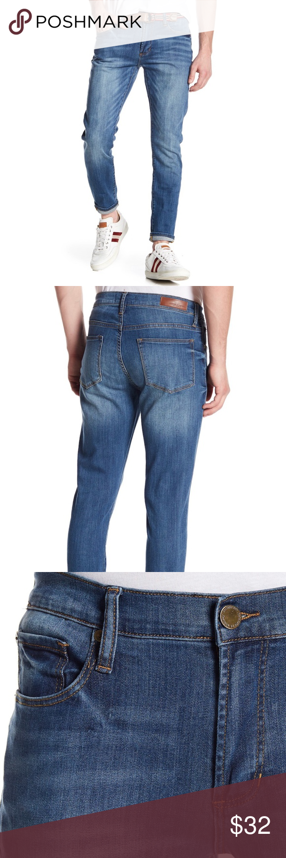 6fc06c6e6d Articles of Society Dylan Washed Denim Jeans 34 Slim Dylan-Zip fly with  button closure