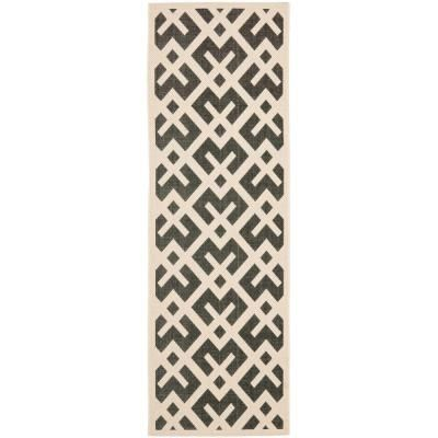 Safavieh Courtyard Black Beige 2 Ft X 12 Ft Indoor Outdoor Runner Rug Cy6915 216 212 Outdoor Runner Rug Indoor Outdoor Rugs Outdoor Area Rugs