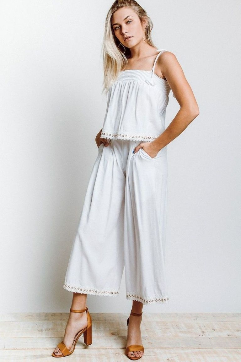 47 summer white linen pants outfit for women bellestilo