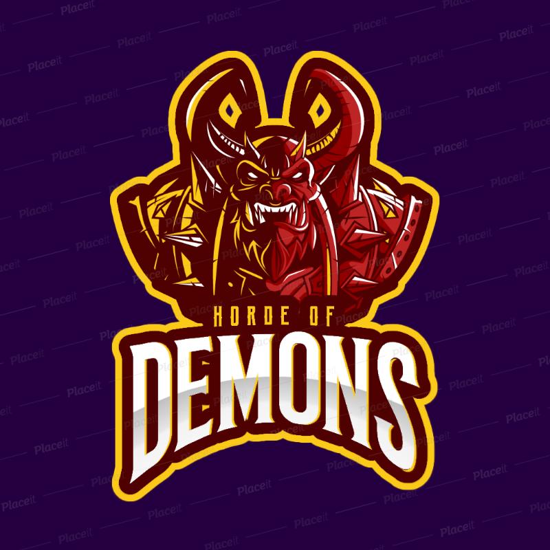 Placeit Gaming Logo Maker Inspired In The Horde From Warcraft In 2020 Logo Maker Logos Game Logo
