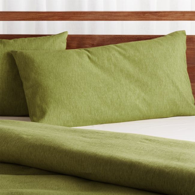 Linden Green King Pillow Sham Crate And Barrel King Pillows Pillows Pillow Shams