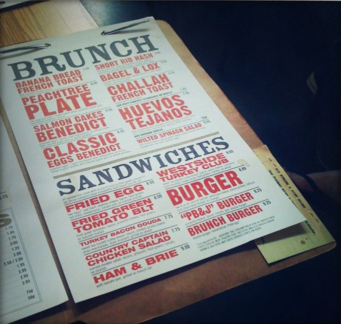 Menu Designs by DesignTAXI I like the font Larger letters for the