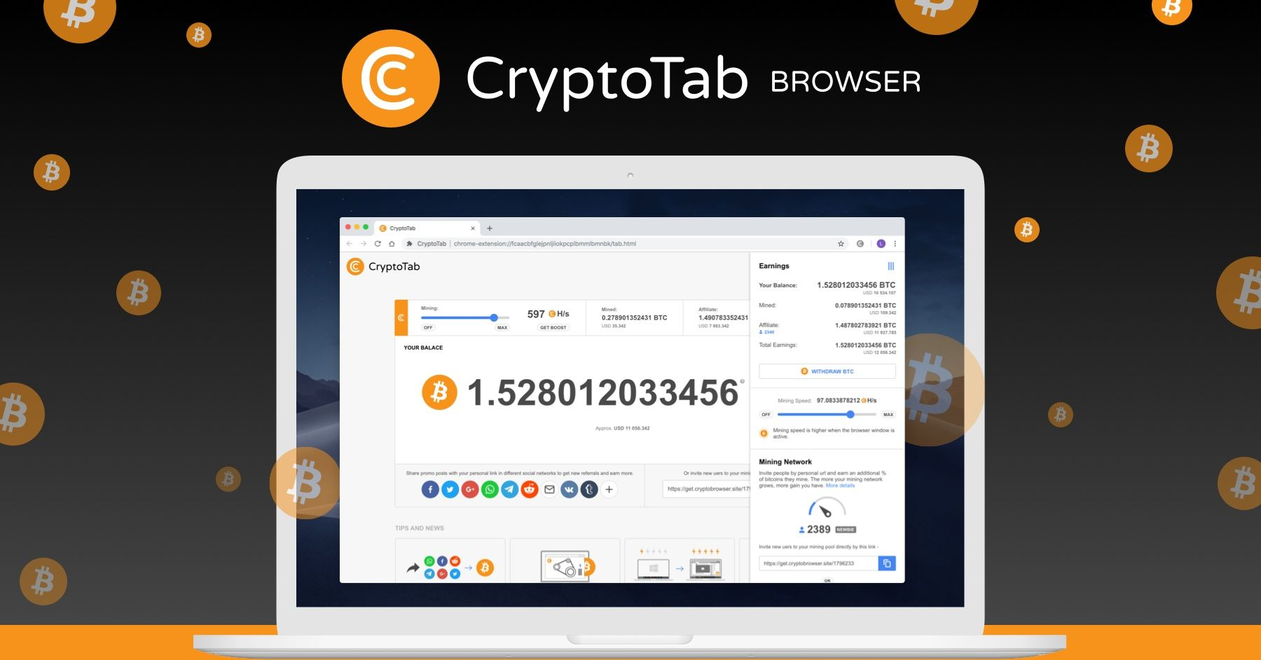 Try the new CryptoTab browser featuring a built-in mining algorithm