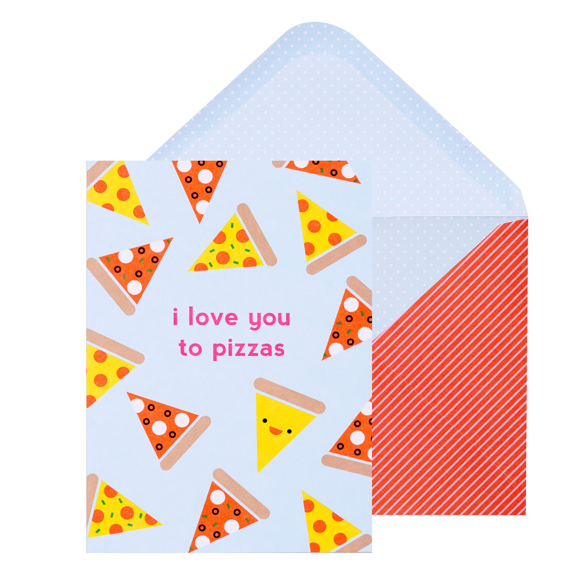 Greeting Card Software Shop Collectibles Online Daily: A6 Greeting Card Love You Pizza: Cute