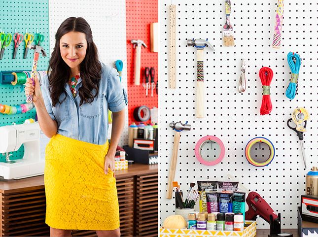 14 Inspiring Ideas For Styling Small Es Via Brit Co Dorm In Hardware Tools Hanging Board