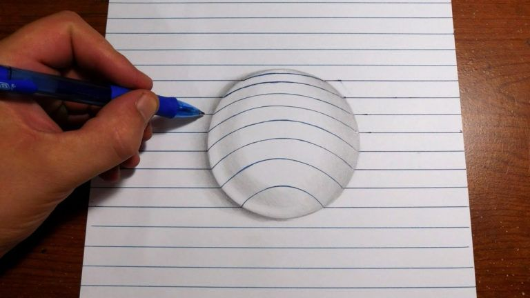 How To Draw 3d Drawings On Paper Step By Step Easy How To Draw 3d Art Easy Line Paper Trick Youtube 3d Drawings Illusion Drawings Easy Drawings