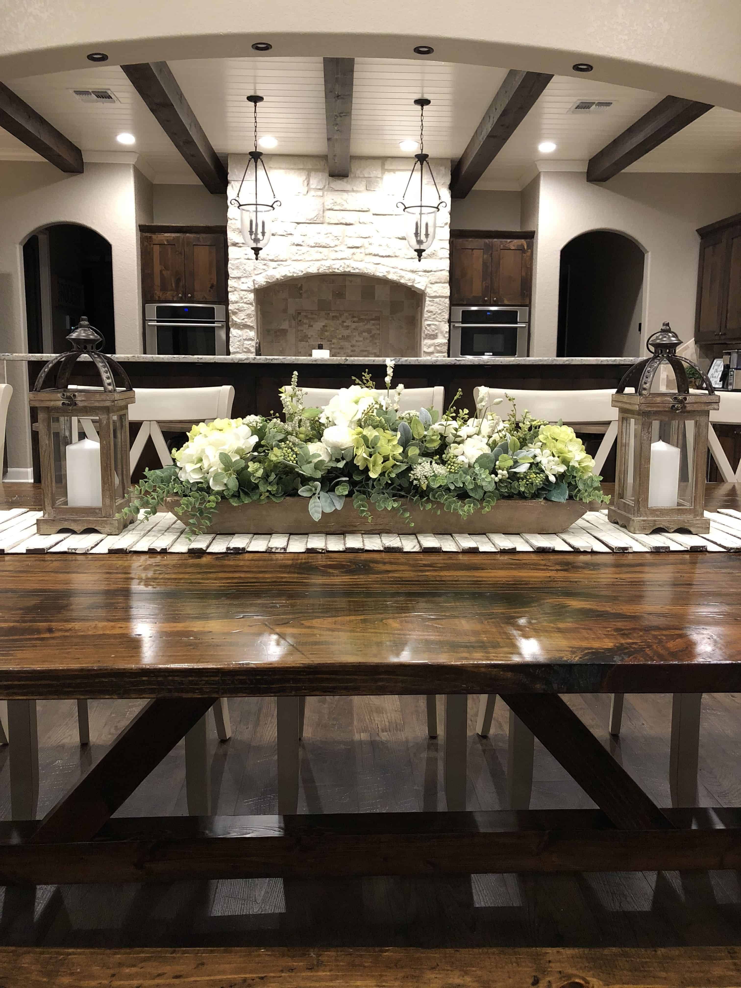 Best Free Of Charge Farmhouse Table Centerpiece Suggestions Creating A Farmhouse Table Is Just A Fa Dining Centerpiece Dining Room Centerpiece Fall Dining Room
