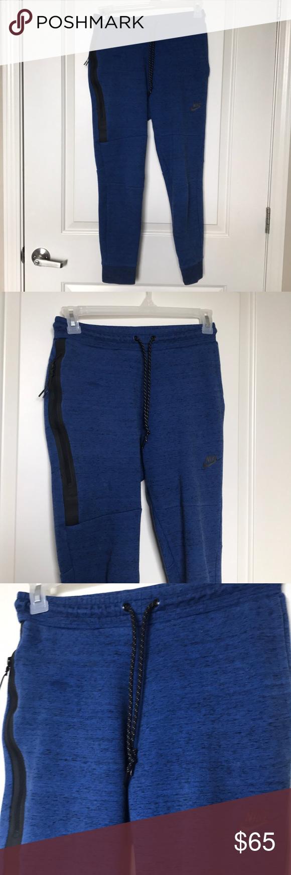 NIKE • Blue Fleece Tech Joggers Sz S
