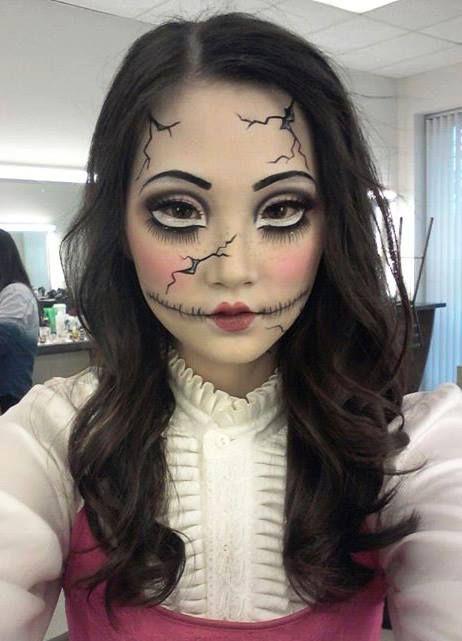 Makeup Doll Makeup Halloween Cracked Doll Makeup Halloween Costumes Makeup