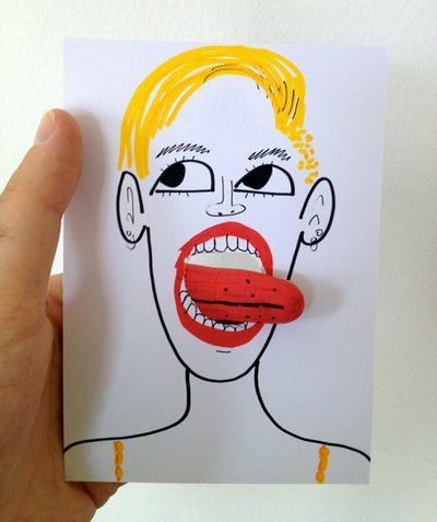 Portrait of Miley Cyrus