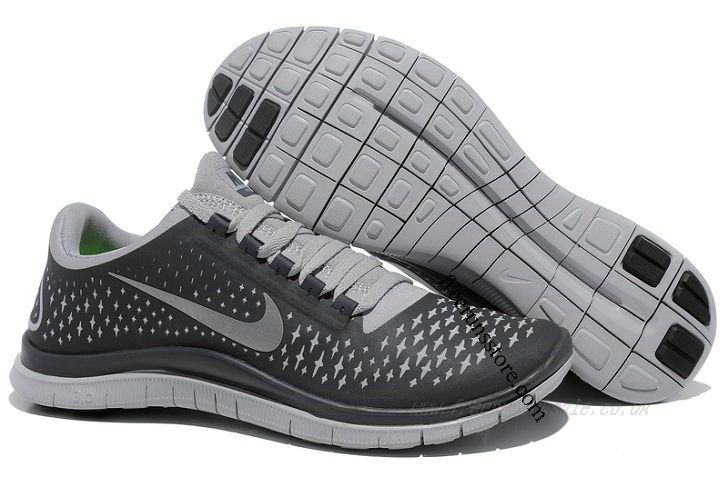 Cheap Nike Free 3 V4 Men's Running Shoes (511457-002) Anthracite/Reflect
