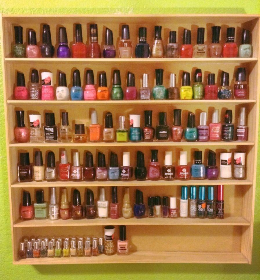 My Diy Nail Polish Rack!!! All supplies at home depot for