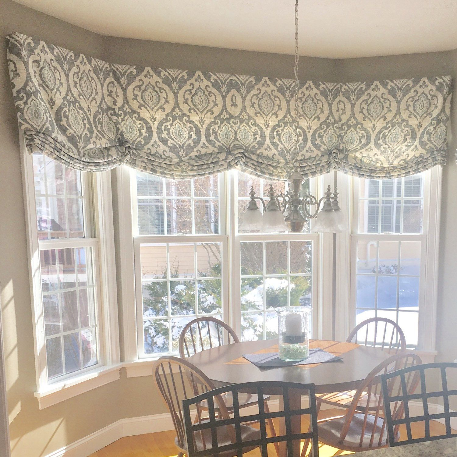 Roman Shade Stationary Valance Custom Designer Fabric