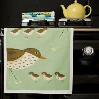 Geschirrtücher Birdy Drossel und Bachstelze 2er Set