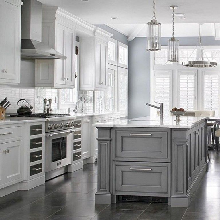 37 Cool Grey White Kitchens Design Ideas Grey Kitchen Designs