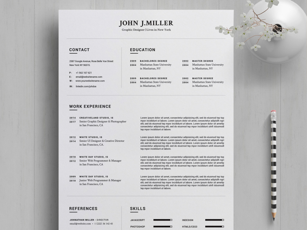 Free Resume Template in Word 2020 Year for your dream
