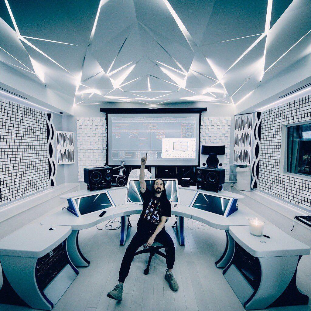 Modern Music Studio: A Glimpse Into Steve Aoki's Futuristic New Studio