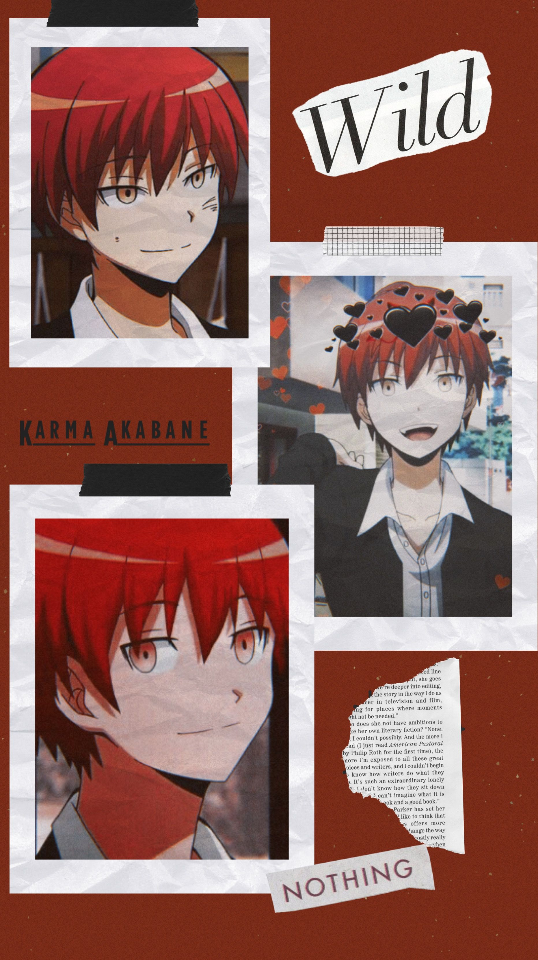 Karma Akabane Lockscreen Karma Akabane Cute Anime Wallpaper Aesthetic Anime Wallpapers