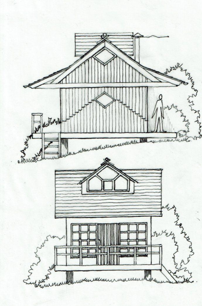 Les Plans De Cabanes Gratuits De Christian Lagrange Part Ii Construction Des Cabanons Plan Cabane Cabanon Cabane