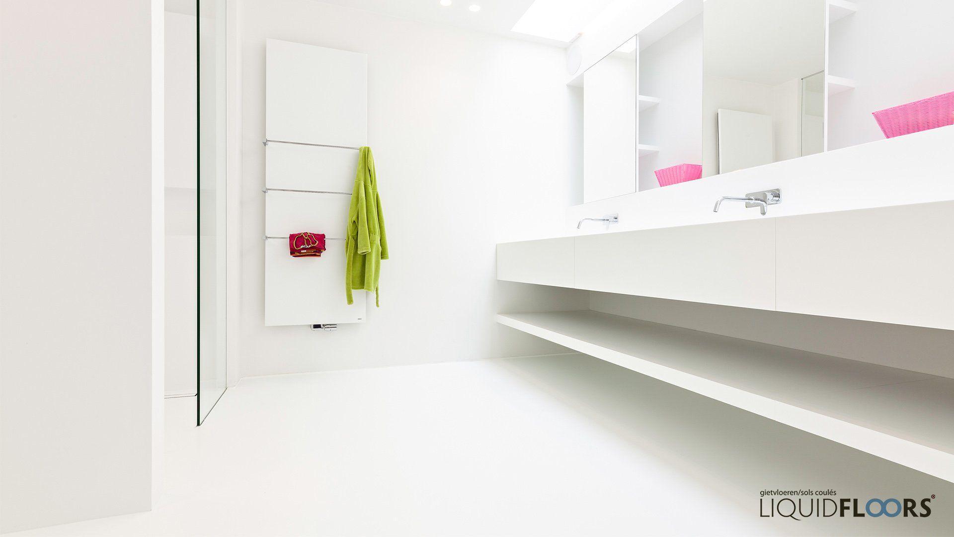 Gietvloer Badkamer Douche : Badkamer vloer renovatie inrichting douche badkamerafwerking