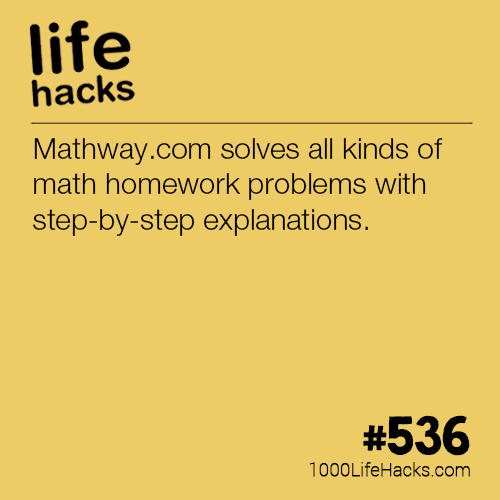 Solve Any Math Problem With Solutions 1000 Life Hacks College Life Hacks Homework Hacks Life Hacks For School