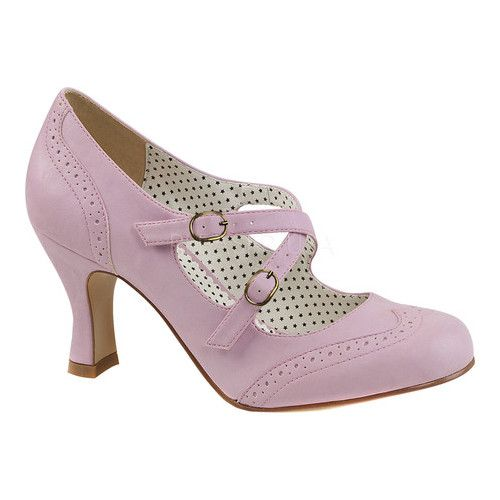 e5243a25ab9 Women s Pin Up Couture Flapper 11 T-Strap Mary Jane - Lavender Faux Leather  Heels