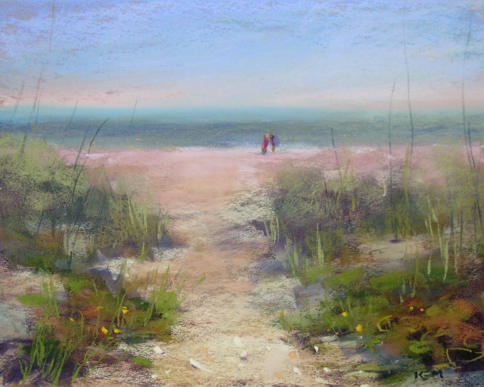 Sanibel Island Seascape Pastel Painting Painting Photos