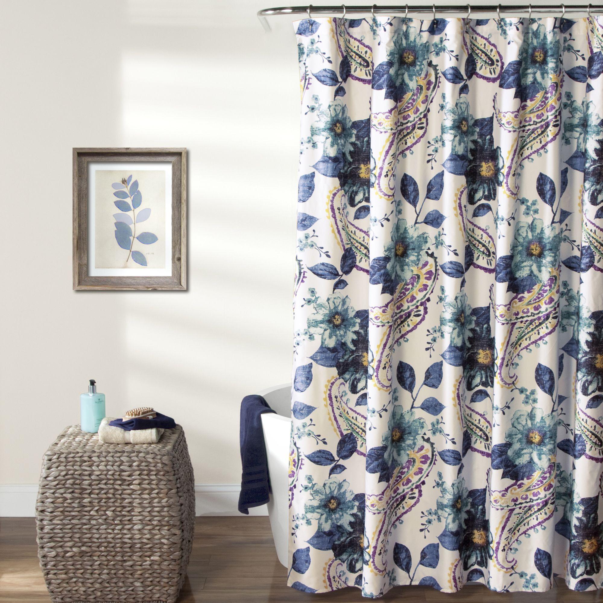 Lush Decor Floral Paisley Shower Curtain By Lush Decor Bathrooms