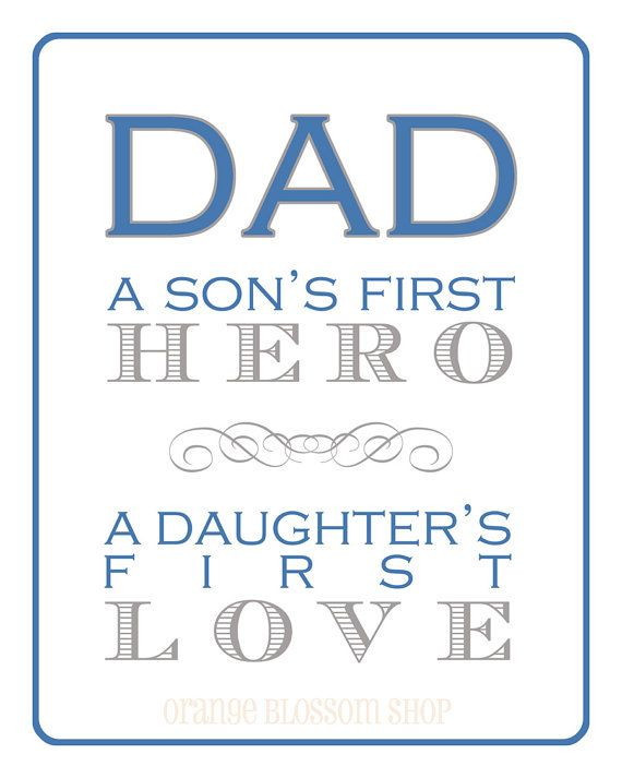 dad son's first hero daughter's first love (etsy