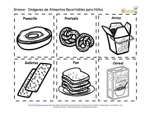 Recortables Imprimibles De Tarjetas De Memoria De Los Granos Para Ninos Alimentos Preescolar Nutricion Para Ninos Plato Del Buen Comer