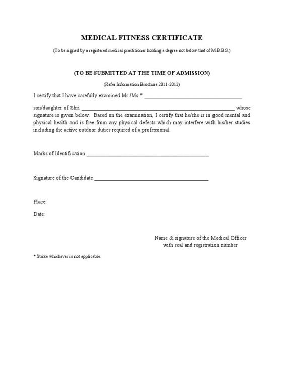 Fit To Fly Certificate Template 5 Templates Example Templates Example In 2020 Doctors Note Template Certificate Format Doctors Note