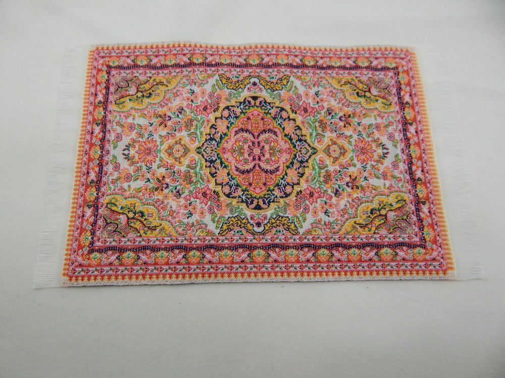 1 12 Scale Doll House Miniature Woven Rug Floor Carpet Size 6 In Length With Fringes X 4 Width Ebay Rugs Dollhouse Miniatures Area Rugs