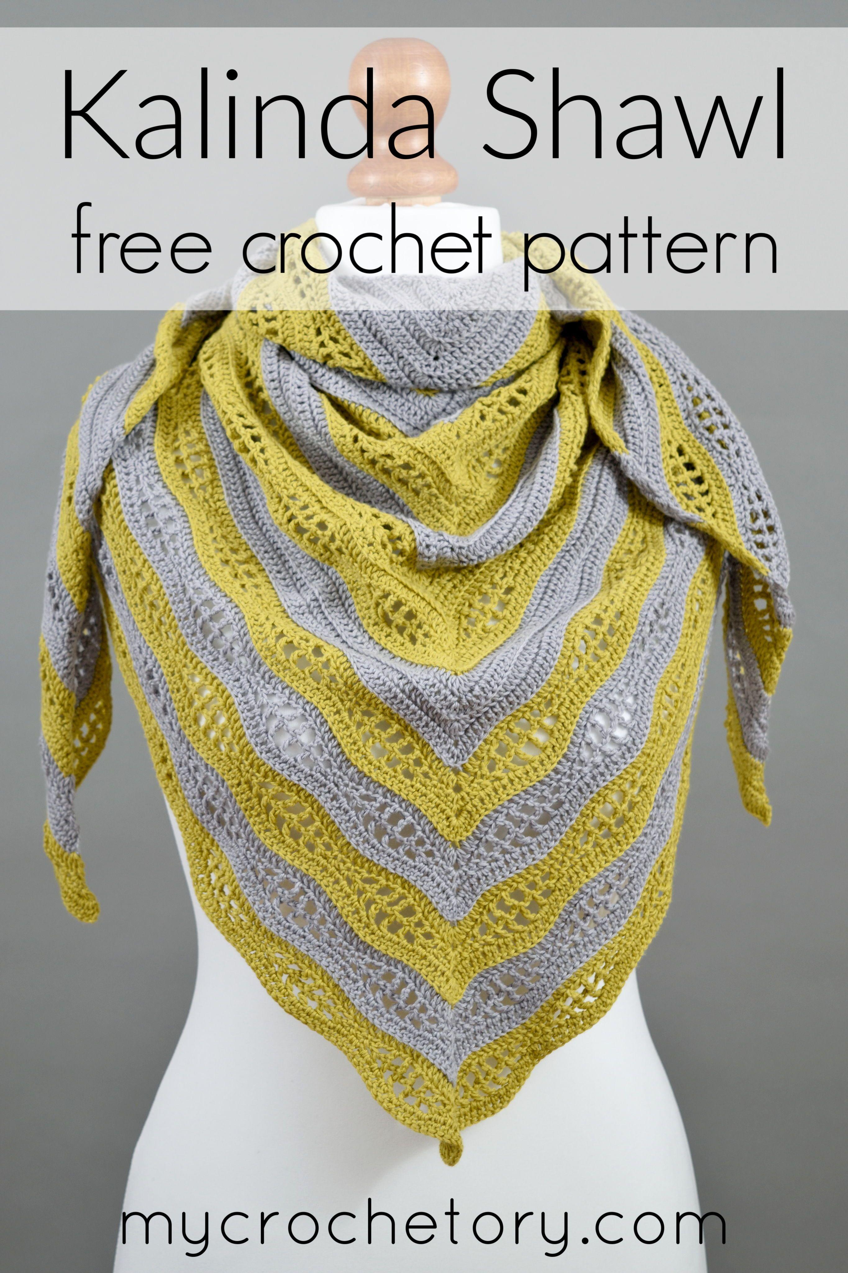 Kalinda Shawl - free crochet pattern by MyCrochetory