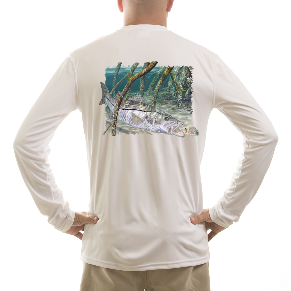 Skiff Life Mangrove Monster Snook Randy McGovern Art Long Sleeve