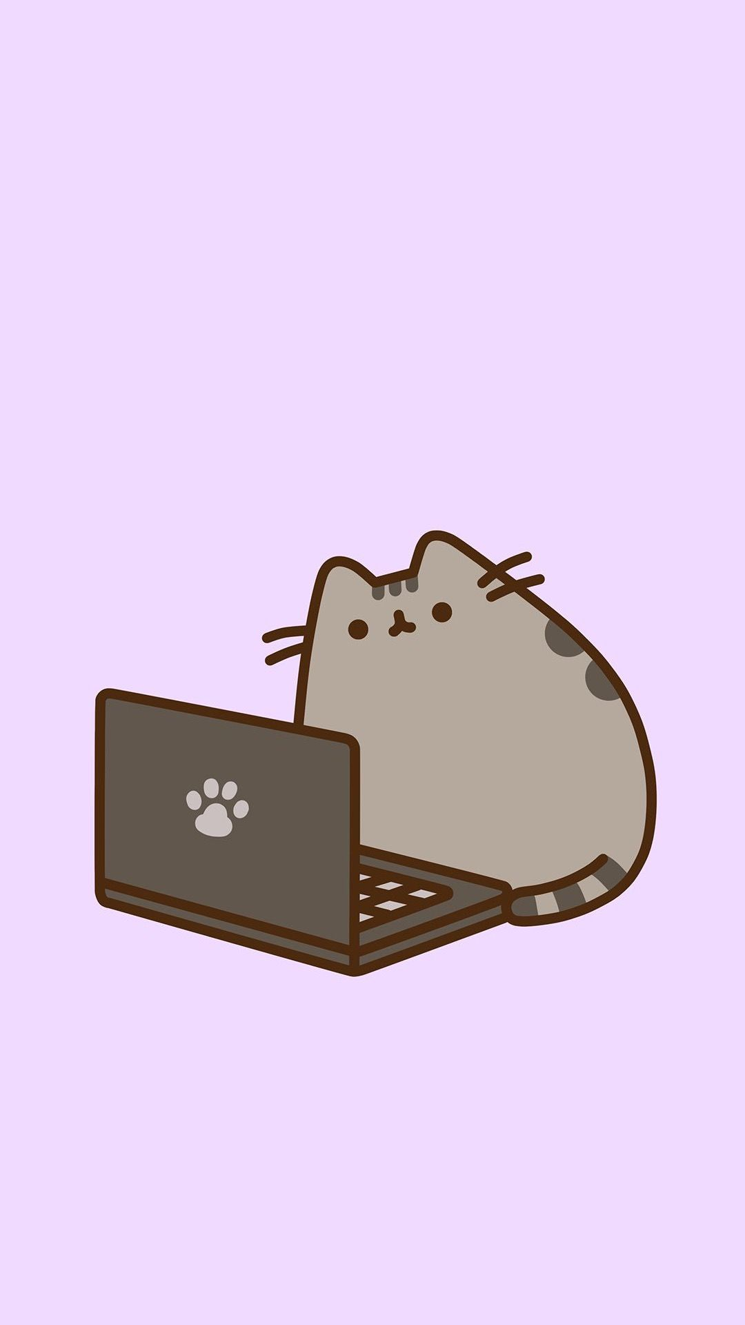 Pusheen At Computer Wallpaper!!! 💕 Pusheen cat, Pusheen