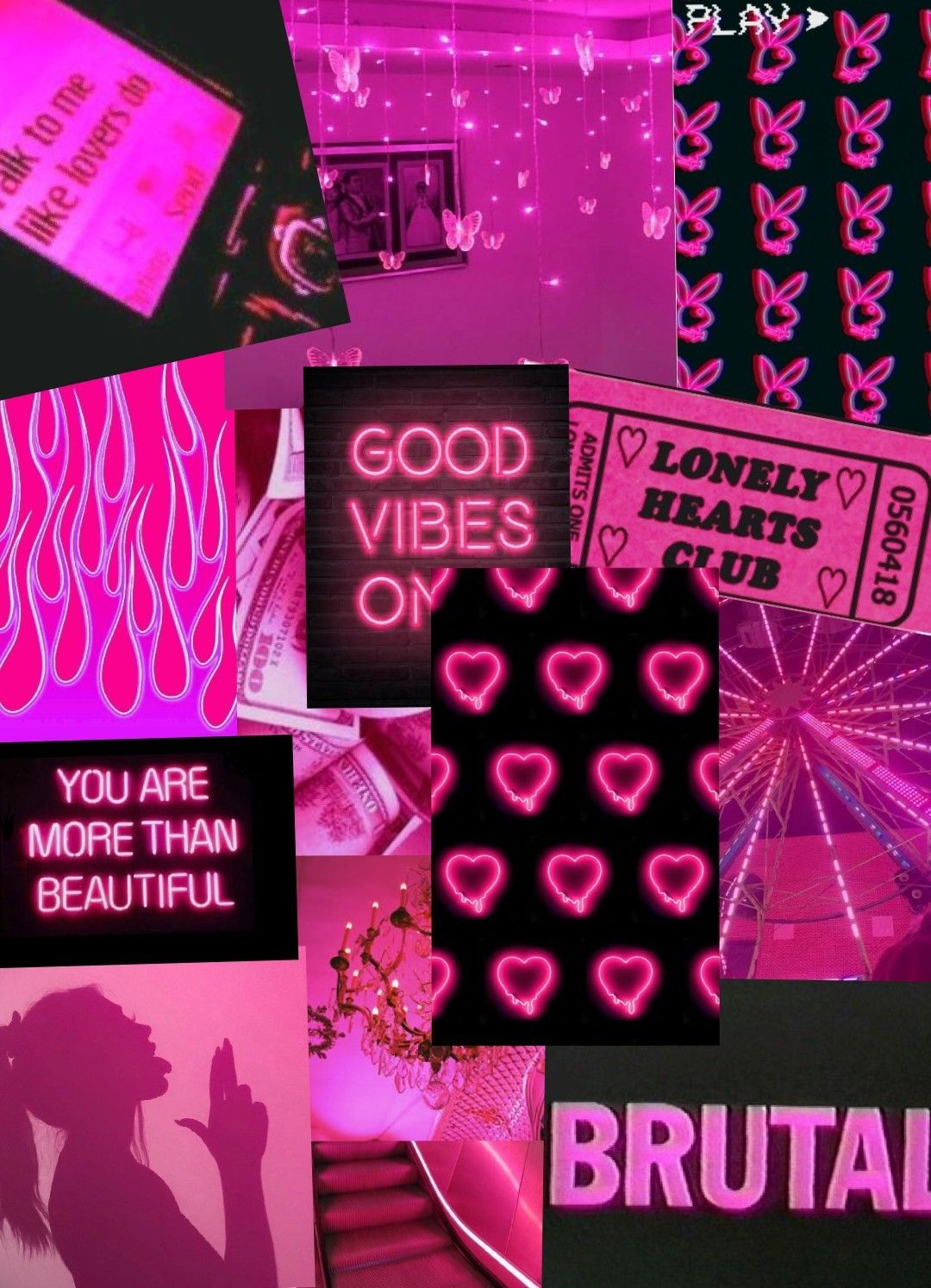 Hot Pink Aesthetic Wallpaper Collage Pretty Wallpaper Iphone Pink Wallpaper Iphone Aesthetic Iphone Wallpaper