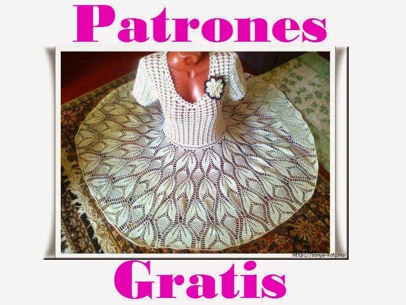 Delicadezas en crochet Gabriela: Vestido de ensueño