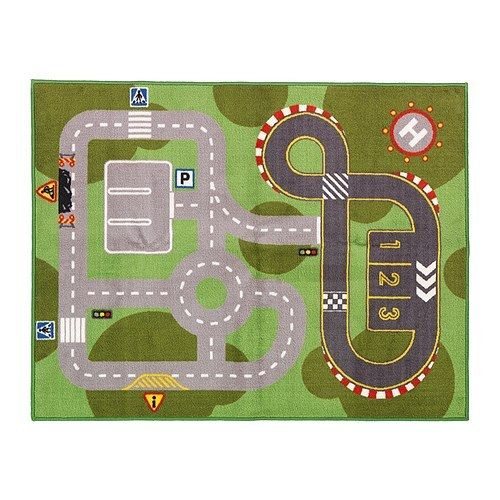 Kids Play Car Mat Rug Race Track From