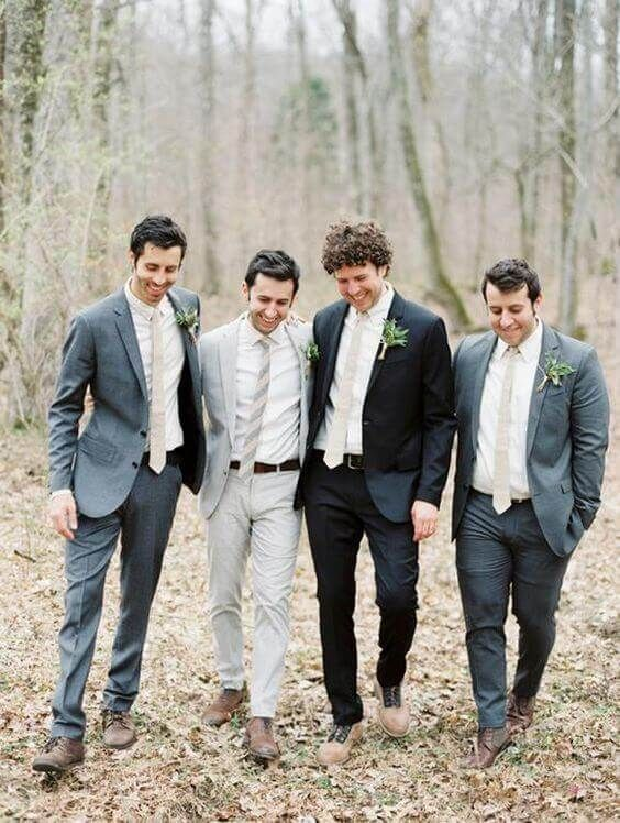 34 Wedding Groomsmen Suits Suggestions | Groomsmen suits, Wedding ...