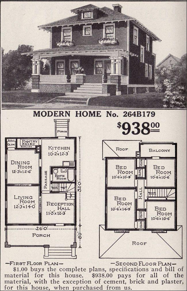 Artistic Foursquare Sears Modern Home No 264b179 Pyramidal