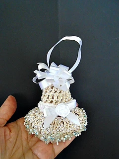 Ravelry: 1066 - LACY BELL CHRISTMAS ORNAMENT pattern by Emi Harrington