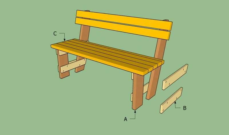 Чертежи с размерами садовых скамеек из дерева: 95 фото
