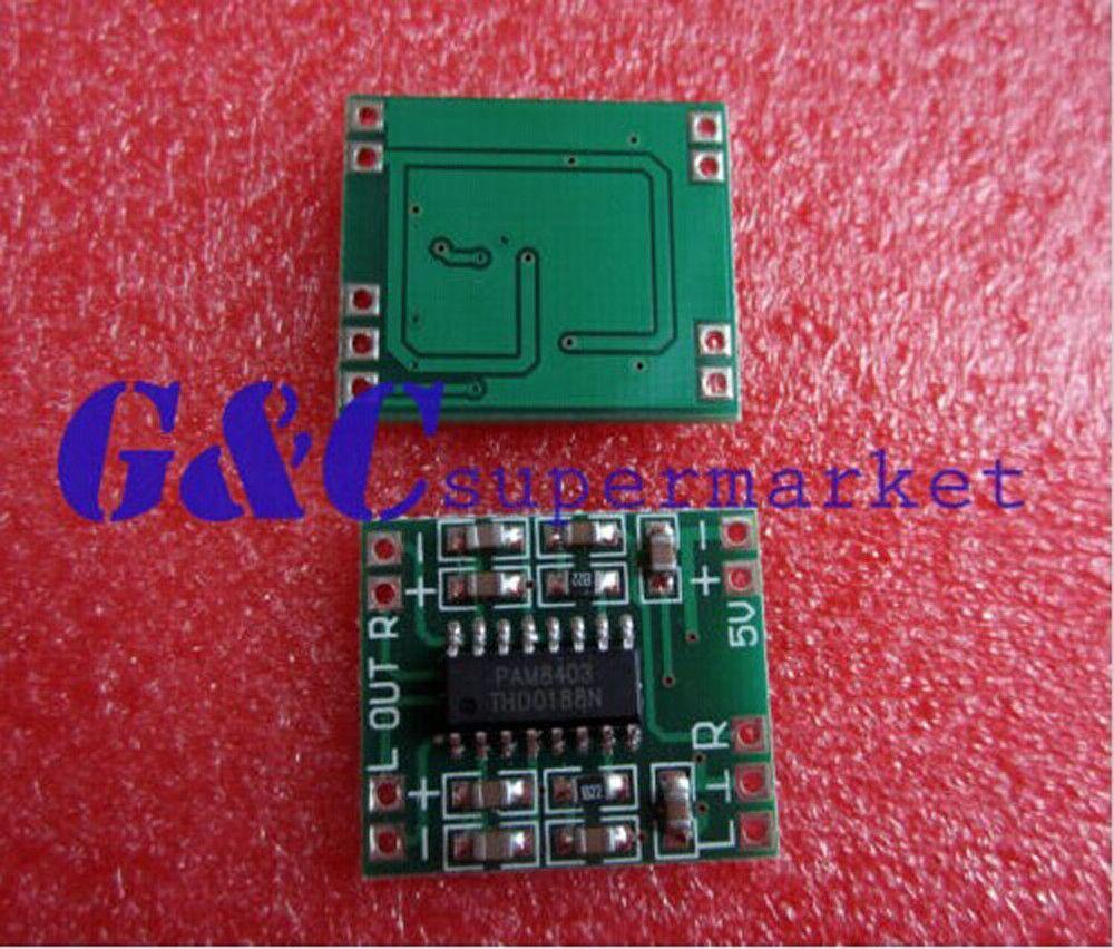 1PCS 2 5-5V 2X3W Mini Audio Class D amplifier board