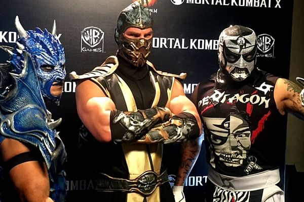 Luchadors Drago And Pentagon Jr With Scorpion From The Video Game