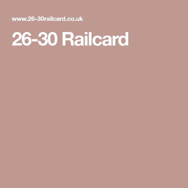 26-30 Railcard