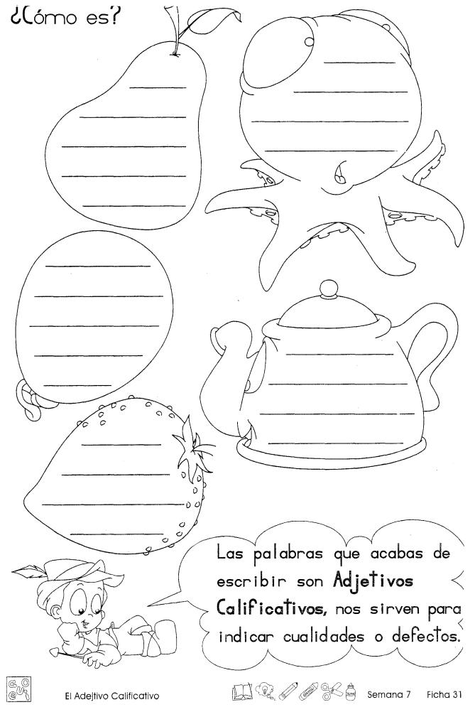 El Adjetivo Calificativo 2do Grado Material De Aprendizaje Recursos De Enseñanza De Español Adjetivos Adjetivos Actividades