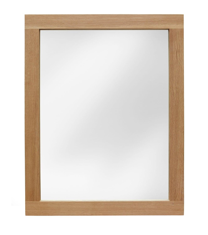 Sherwood Oak Wall Mirror 760 X 600mm Wood Framed Mirror