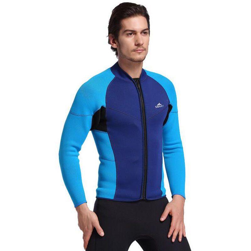 81626e3e2f NEW Men s 2mm Neoprene Wetsuit Tops Jacket Front Zipper Long Sleeve Diving  Suits (eBay Link)